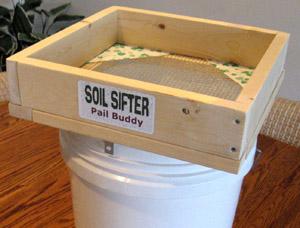 soil sifter pail buddy